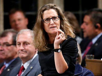 Kanadas Handelsministerin Chrystia Freeland kündigte an, unverrichteter Dinge nach Kanada zurückzukehren.