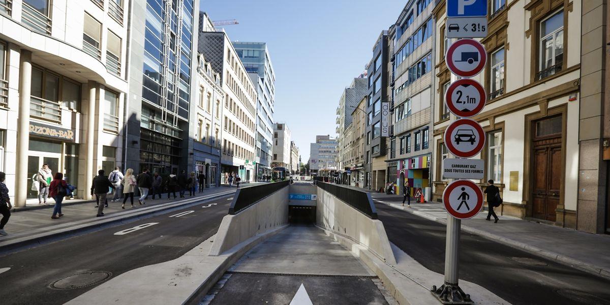 Die Zufahrt für die Besucher befindet sich in der Avenue Monterey (Foto), jene für die Abonnenten in der Rue Aldringen.