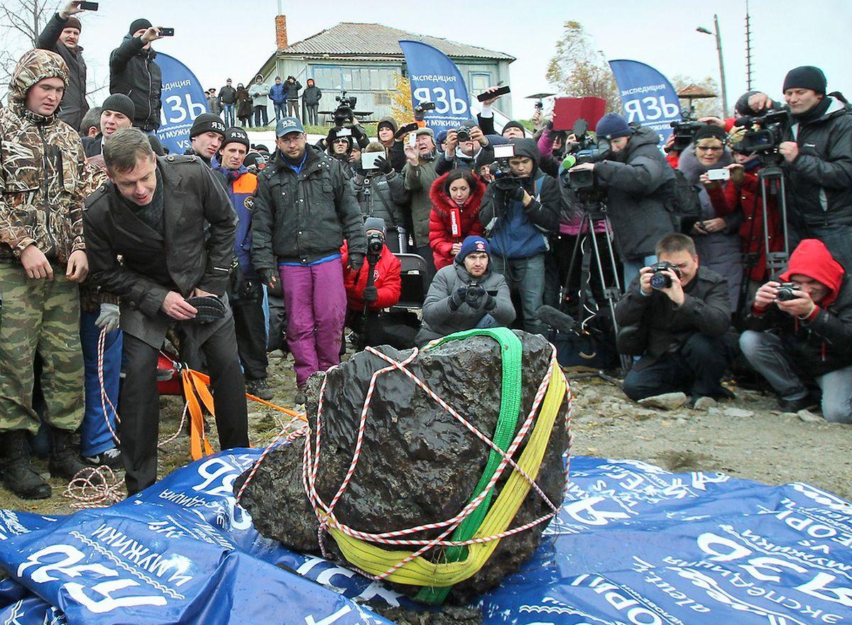 Archivbild: Der Einschlag des Meteroriten über der Beringsee ist war Vergleichbar mit dem Tscheljabinsk-Meteoriten vom 16 Oktober 2013.