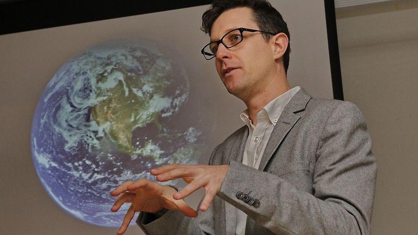 O astrofísico português Pedro Russo esteve segunda-feira no Instituto Camões para falar de astronomia