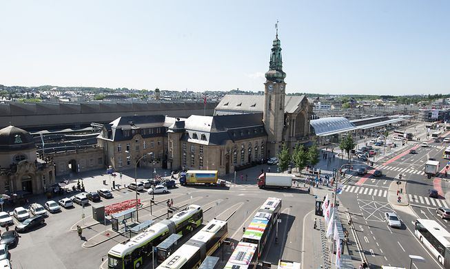 Luxembourg's Central Rail Station - the surrounding area is known as Gare.
