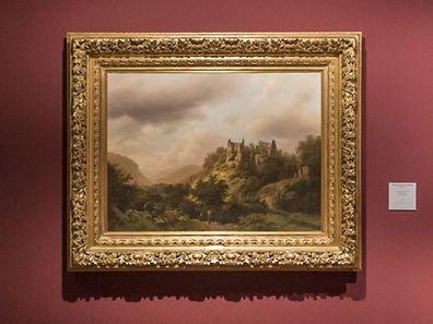 """Luxemburgische Landschaft mit Burgruine Fels (Larochette)"" (1848) von Barend Cornelis Koekkoek soll als nationales Erbe gesichert werden."