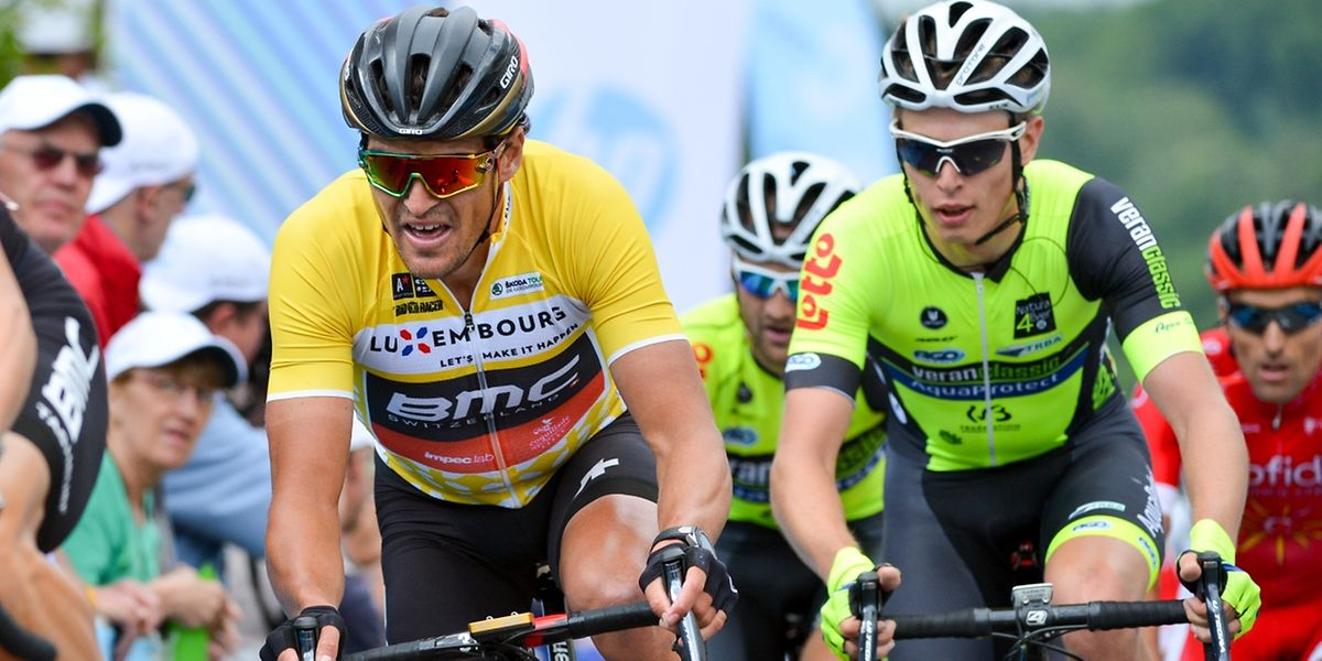 L'homme fort de ce Tour Greg Van Avermaet au côté du grand animateur Alex Kirsch.