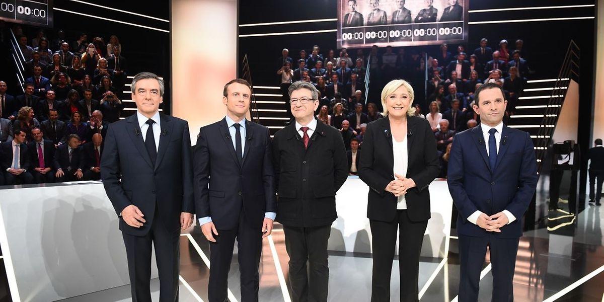 Fünf Kandidaten lieferten sich eine energiegeladene Redeschlacht.
