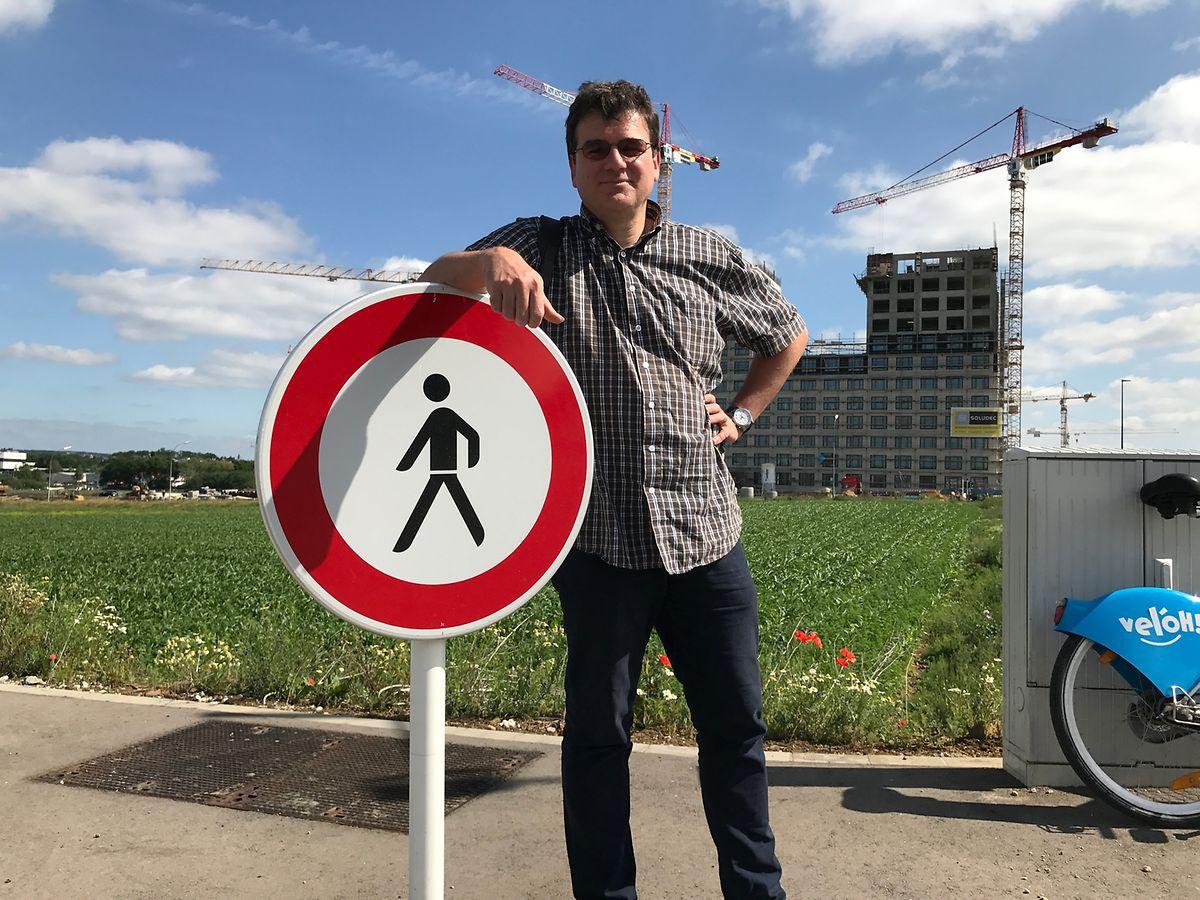 Marc Thill ging zu Fuß über den Ban de Gasperich.