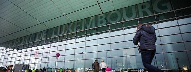 O aeroporto do Luxemburgo.