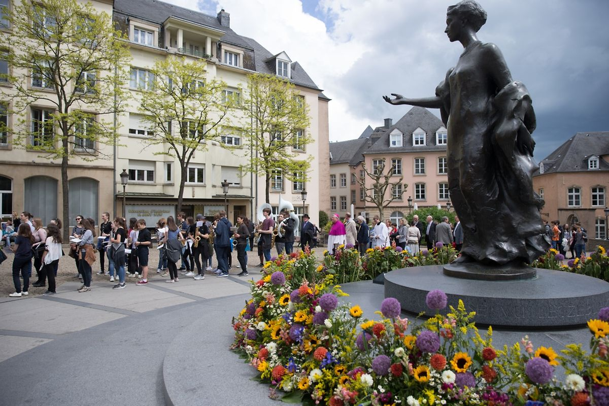"""Messe für das Athenäum und die """"Lycéen"""" der Stadt Luxemburg."""