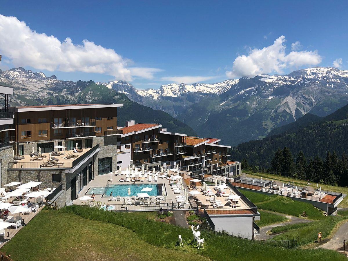 Mit Blick auf die französischen Alpen: Der Club Med Grand Massif Samoëns Morillon wurde im Dezember 2017 eröffnet.