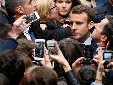 Der unabhängige Präsidentschaftskandidat Emmanuel Macron hat nun auch seine Affäre.