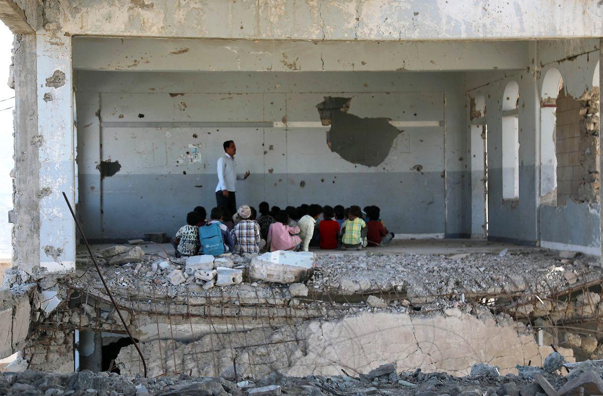 So sieht eine Schule im Jemen aus: Nach fünf Jahren Bürgerkrieg leigt die Infrastruktur des Landes  am Boden.