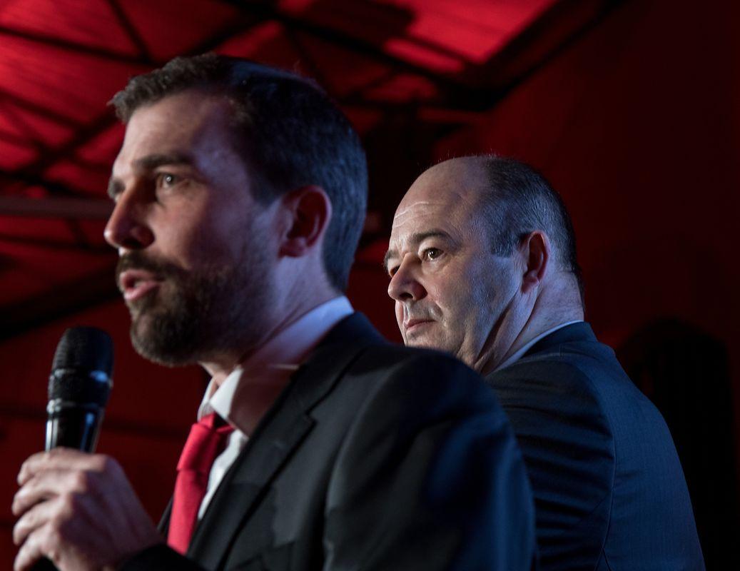 Generalsekretär Yves Cruchten und Parteipräsident Claude Haagen.