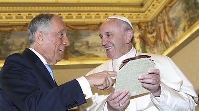 Marcelo Rebelo de Sousa e o Papa Francisco