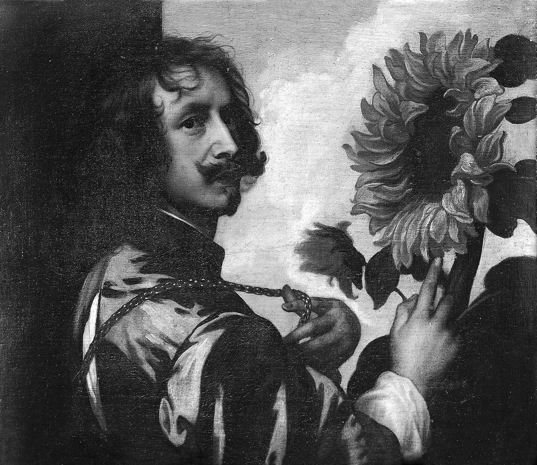 Das Selbstbildnis mit Sonnenblume nach Anthonis van Dyck (Antwerpen 1598/9- 1641 London).
