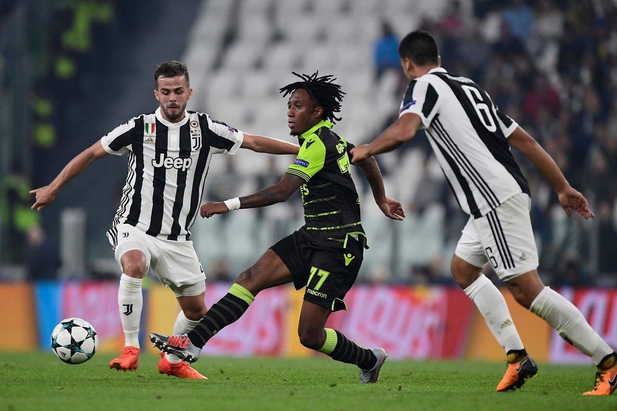 O Sporting perdeu em Turim por 2-1