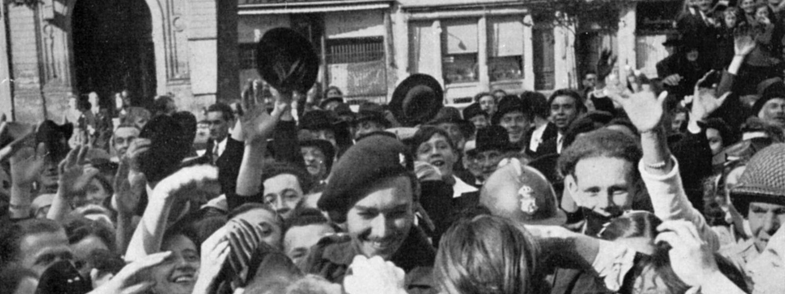 Prinz Jean wurde im September 1944 von den Menschen gefeiert.