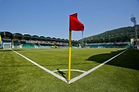 This undated picture taken in the year 2016 shows the stadium of seven-time Slovakian football league champions MSK Zilina in Zilina, Slovakia. - MSK Zilina have been placed into liquidation as a result of financial troubles after the season was put on hold due to the coronavirus pandemic, it was announced on March 31, 2020. (Photo by STRINGER / AFP)