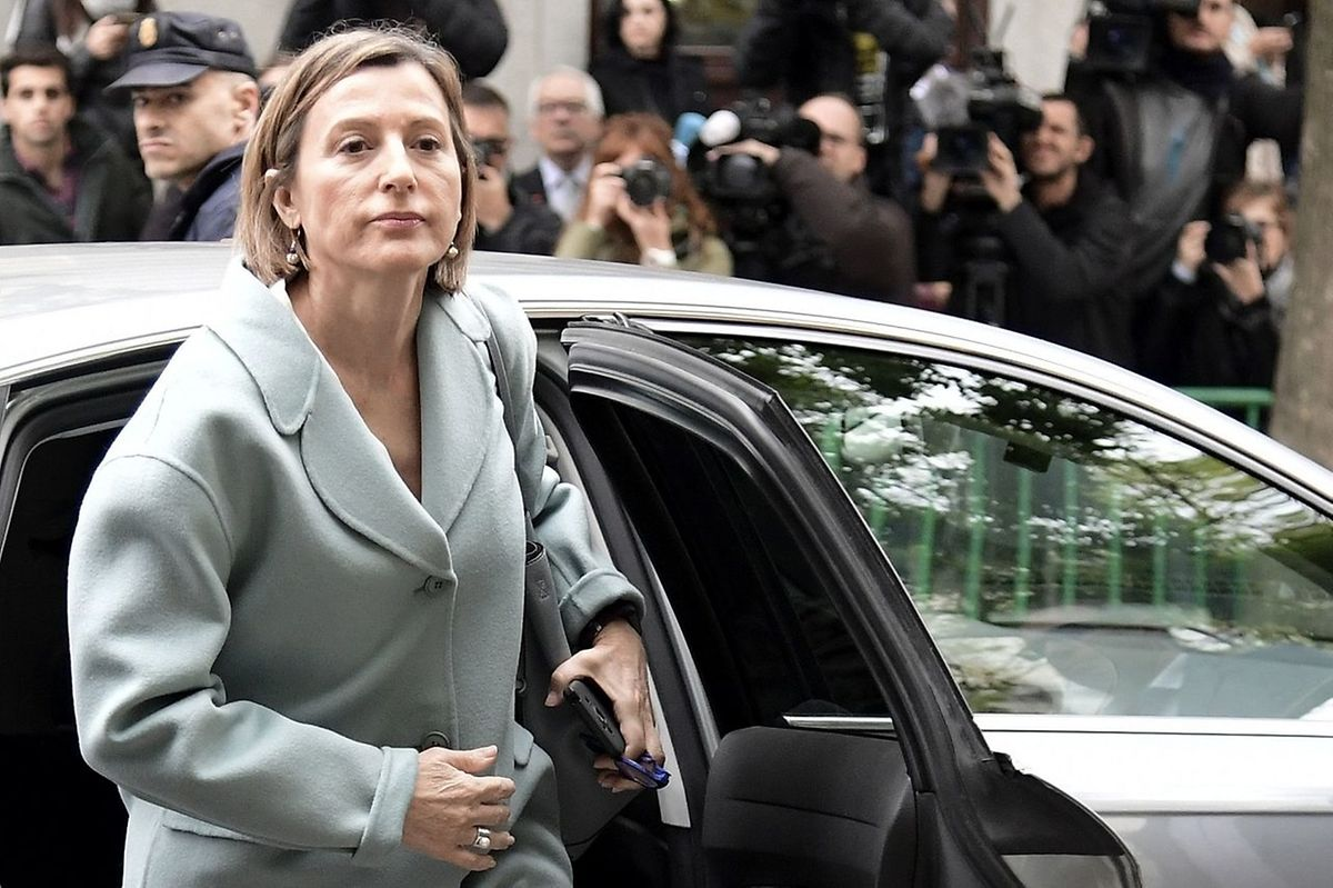 A presidente destituída do Parlamento catalão, Carme Forcadell.