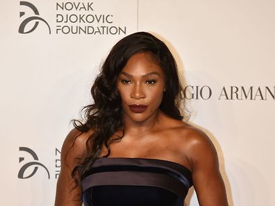 US tennis player Serena Williams attends the Charity Gala Dinner for the Novak Djokovic Foundation on September 20, 2016 in Milan. / AFP PHOTO / ALBERTO PIZZOLI
