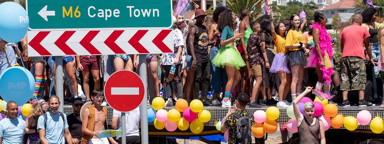 """Der Gay-Pride-Parade fannt unter dem  Motto """"Ich bin ich"""" zum 15. Mal in Kapstadt statt."""