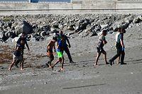 Die Menschen aus Marokko schwammen durch das Mittelmeer oder gingen bei Ebbe am Strand entlang. Auf spanischem Boden wurden sie festgenommen.