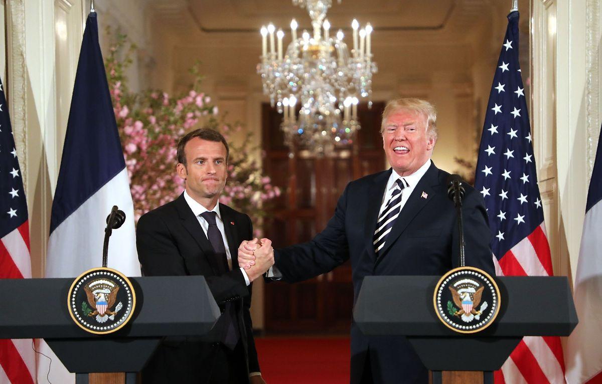 Emmanuel Macron e Donald Trump.