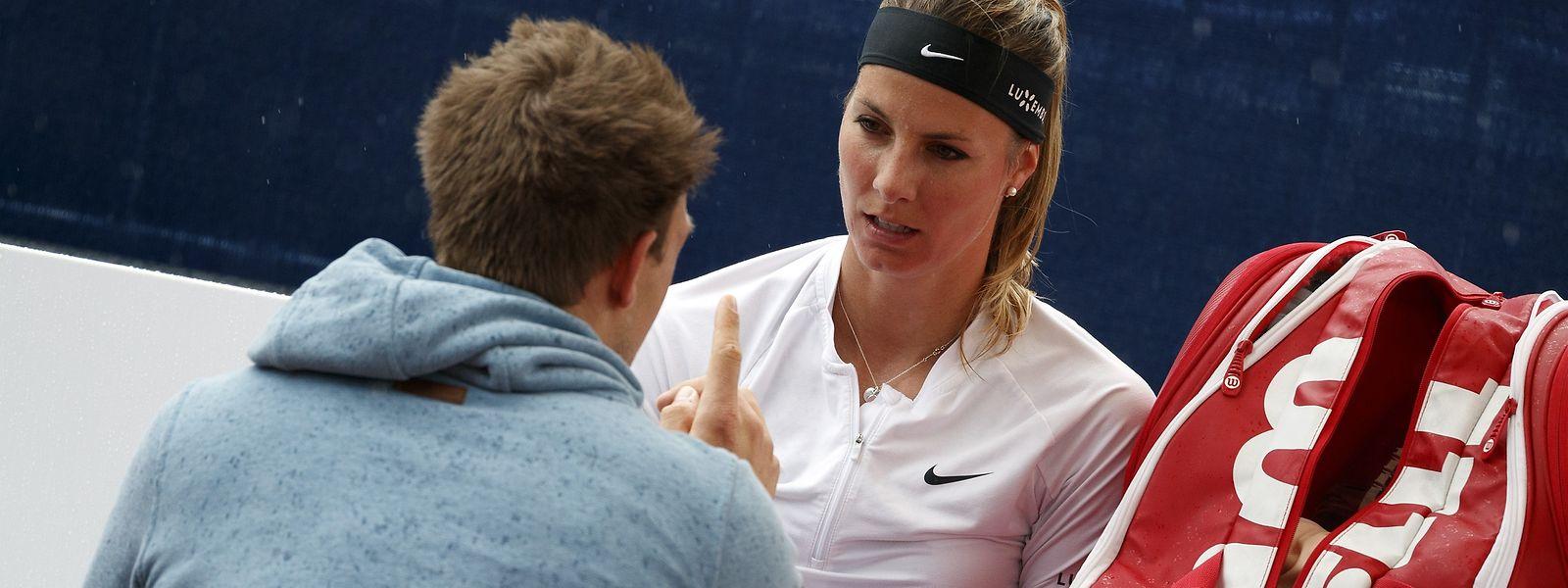 Mandy Minella winkt am Sonntag der zweite Turniererfolg auf der WTA-Tour.