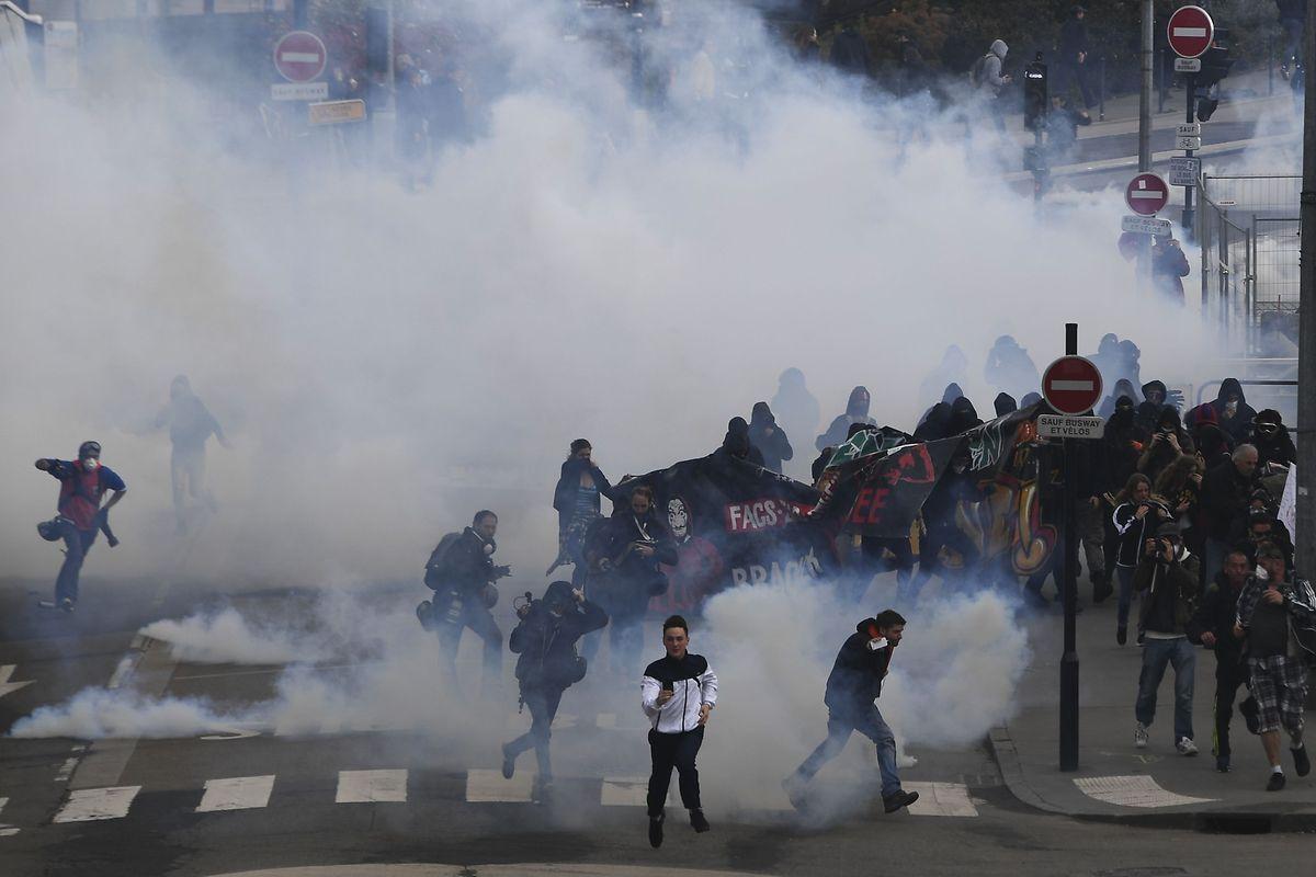 Im westfranzösischen Nantes eskalierte am Samstag eine Kundgebung gegen die Räumung eines von linken Aktivisten besetzten Geländes.