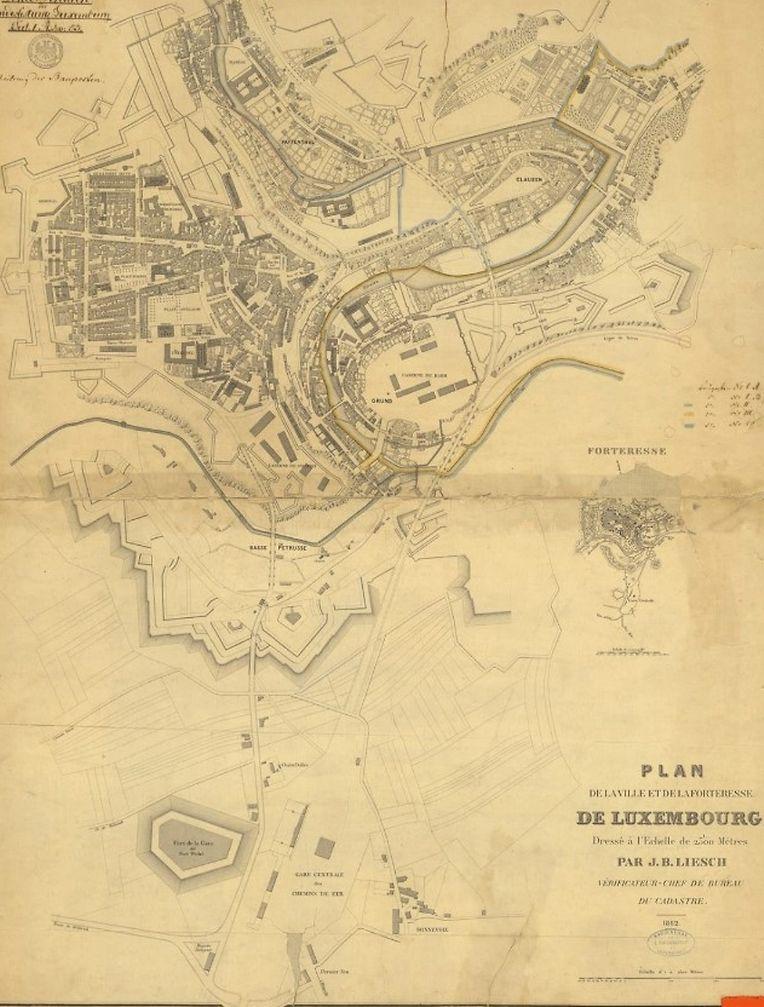 La Ville en 1863.