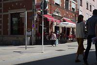 Die Auseinandersetzungen begannen vor einer Gaststätte in der Avenue de la Gare.