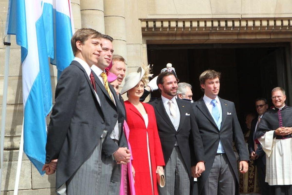 La famille grand-ducale assiste au Te Deum à la cathédrale Notre-Dame, le 23 juin à 16h30.