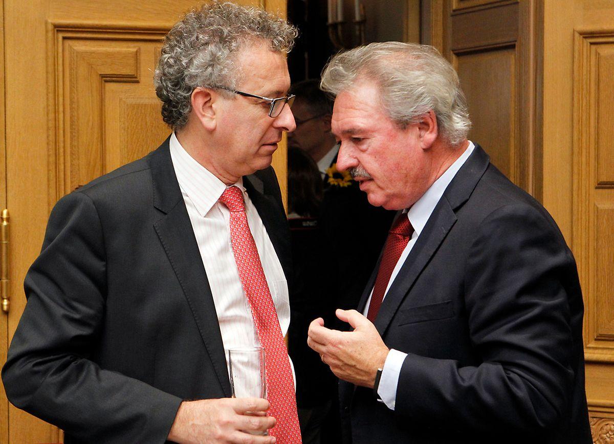 Vertreten in dieser Frage nach außen völlig gegensätzliche Meinungen: Finanzminister Pierre Gramegna (links) und Außenminister Jean Asselborn.