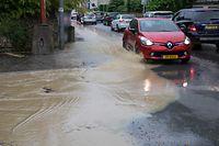 Auch in der Hauptstadt gab es Überschwemmungen, wie hier im Reckenthal.
