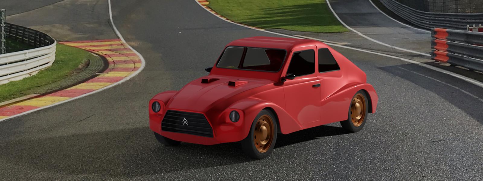 In der Simulation wissen die drei Hobbyrennfahrer bereits, wie ihr Auto einmal aussehen soll - in der Realität wartet dazu noch einiges an Arbeit auf sie.