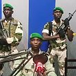"""TOPSHOT - In this video grab made on a video footage obtained on YouTube on January 7, 2019, Gabon soldiers on state radio called on the people to """"rise up"""" and announced a """"national restoration council"""" would be formed, as an ailing President Ali Bongo is out of the country. - The message was read on state radio by a person who identified himself as the deputy commander of the Republican Guard and head of a group called the Patriotic Youth Movement of the Gabonese Defence and Security Forces. (Photo by - / YOUTUBE / AFP) / RESTRICTED TO EDITORIAL USE - MANDATORY CREDIT """"AFP PHOTO / YOUTUBE """" - NO MARKETING NO ADVERTISING CAMPAIGNS - DISTRIBUTED AS A SERVICE TO CLIENTS"""