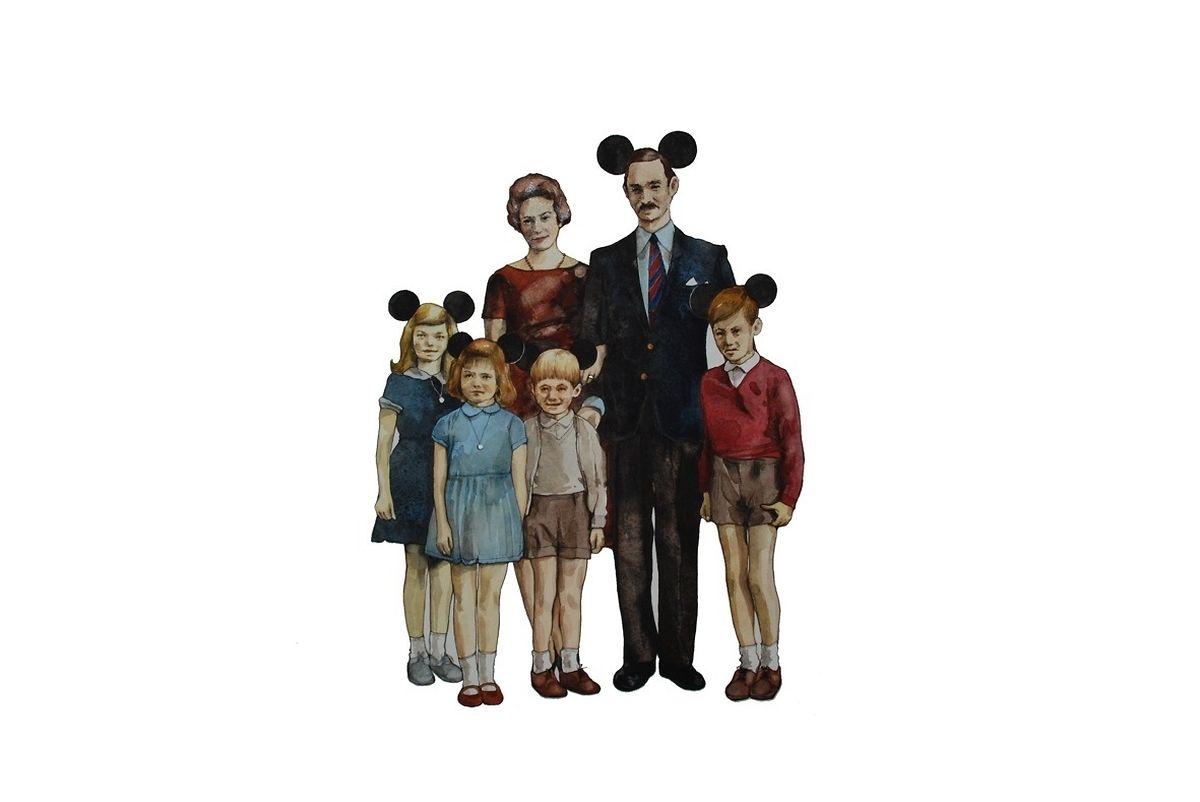 """O quadro """"Disneylândia"""", do artista belga Steve Jacobs, foi censurado em 2009 pelo embaixador do Luxemburgo na Bélgica. Agora volta a provocar polémica."""