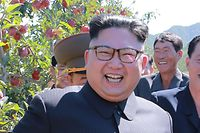 "This undated picture released from North Korea's official Korean Central News Agency (KCNA) on September 21, 2017 shows North Korean leader Kim Jong-Un visiting a fruit farm at Kwail-?p County, South Hwanghae Province. / AFP PHOTO / KCNA VIS KNS AND AFP PHOTO / STR / South Korea OUT / REPUBLIC OF KOREA OUT   ---EDITORS NOTE--- RESTRICTED TO EDITORIAL USE - MANDATORY CREDIT ""AFP PHOTO/KCNA VIA KNS"" - NO MARKETING NO ADVERTISING CAMPAIGNS - DISTRIBUTED AS A SERVICE TO CLIENTS THIS PICTURE WAS MADE AVAILABLE BY A THIRD PARTY. AFP CAN NOT INDEPENDENTLY VERIFY THE AUTHENTICITY, LOCATION, DATE AND CONTENT OF THIS IMAGE. THIS PHOTO IS DISTRIBUTED EXACTLY AS RECEIVED BY AFP.  /"