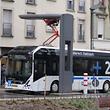 Der Volvo-Bus der Firma Sales Lentz im Diffbus-Betrieb (oben) nutzt ein anderes Ladesystem als der VDL-Bus der Firma Pletschette im RGTR-Betrieb (unten).