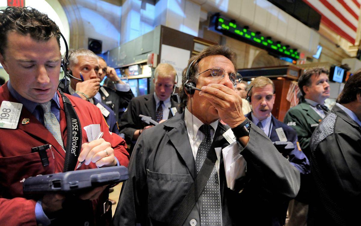 6. Oktober 2008: Sogar die hartgesottenen Trader an der Wall Street können den tiefen Fall der Kurse kaum glauben. Erinnerungen an den Crash von 1929 werden wach.