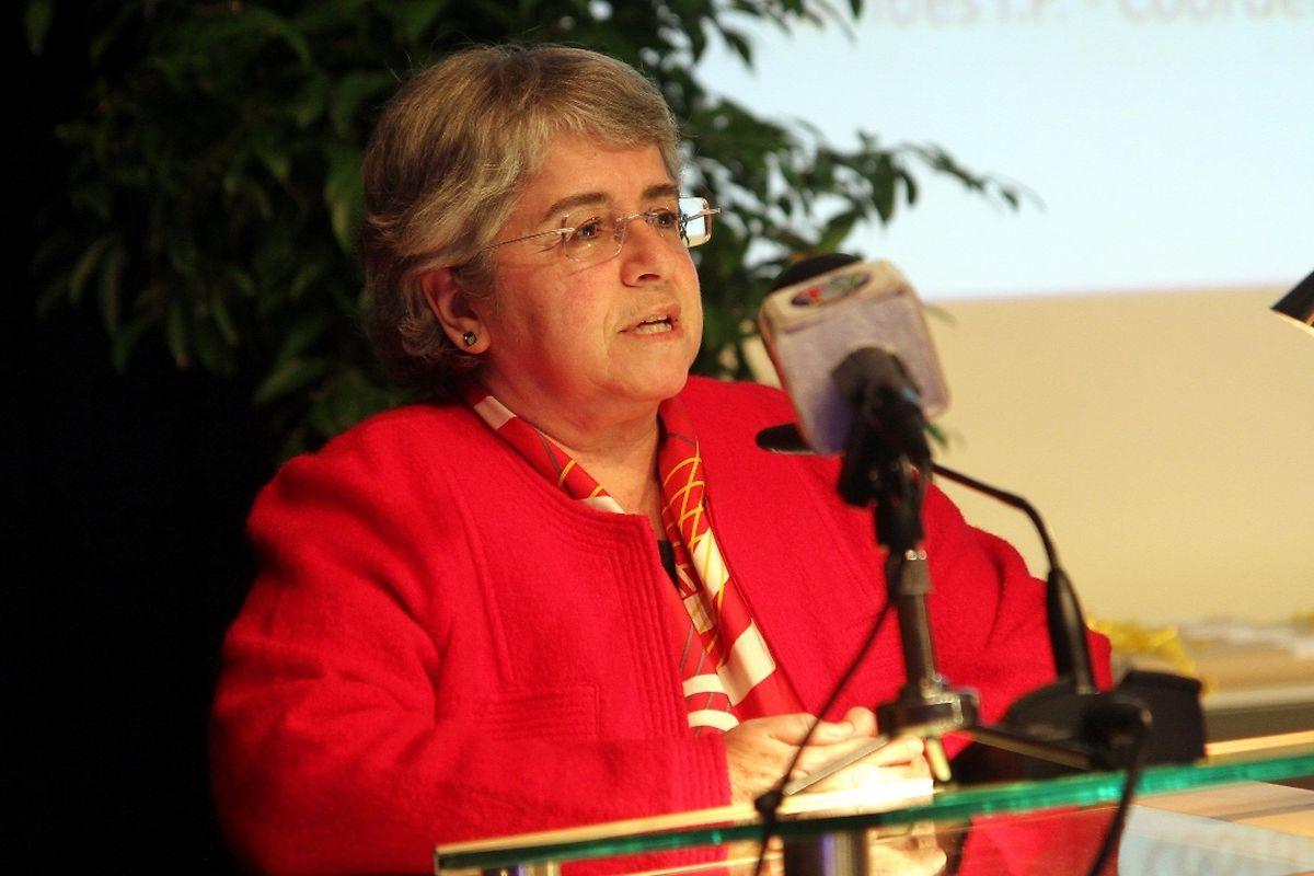 A embaixadora de Portugal recebeu os alunos no Centro Arca, em Bertrange...