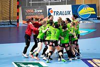 Kaerjeng / Handball, Coupe de Luxembourg Halbfinale Frauen, Kaerjeng - Diekirch / 29.04.2021 / Luxemburg / Foto: Christian Kemp