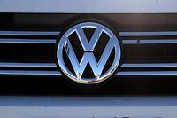 COLMA, CA - NOVEMBER 18: The Volkswagen logo is displayed on the front of a brand new Volkswagen car at Serramonte Volkswagen on November 18, 2016 in Colma, California. Volkswagen announced plans to lay off 30,000 workers in an effort to boost profits in the wake of the recent emissions scandal.   Justin Sullivan/Getty Images/AFP == FOR NEWSPAPERS, INTERNET, TELCOS & TELEVISION USE ONLY ==