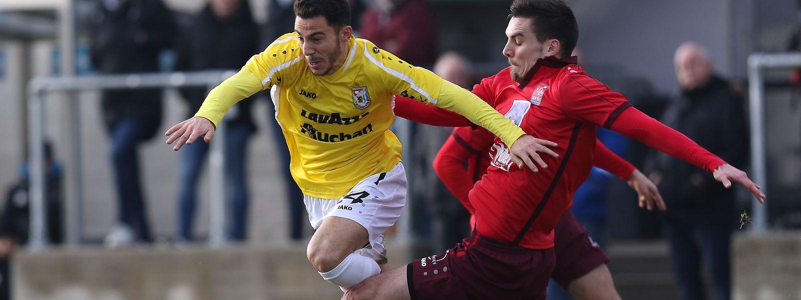 Edisson Jordanov konnte in seinem ersten Spiel im Düdelinger Trikot das Unentschieden nicht verhindern.