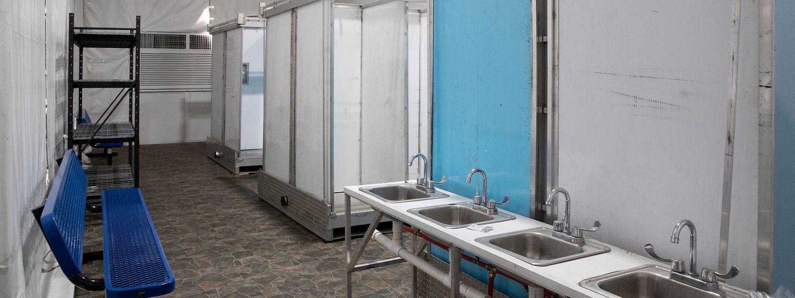 Das Innere eines Internierungslagers an der Grenze zu Mexiko.