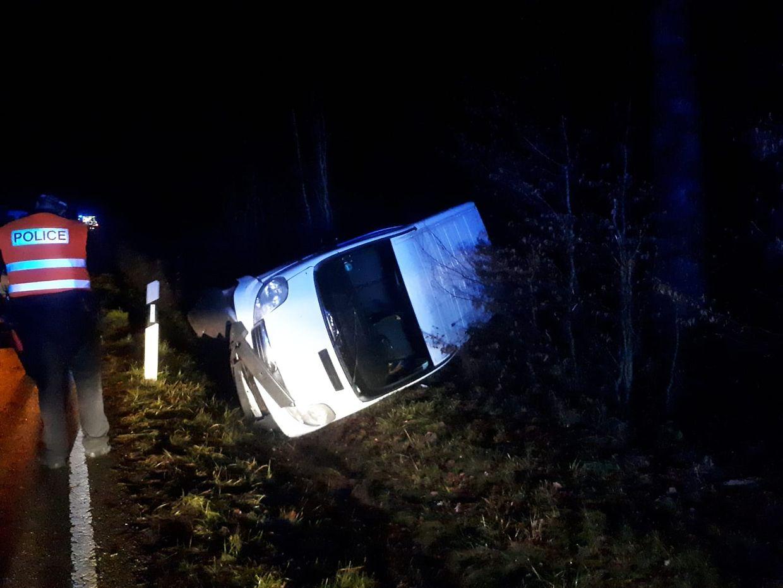 Unfall auf dem CR306 zwischen Bissen und Vichten.
