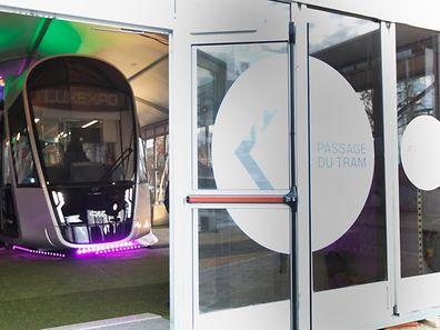 7.12.2015 Luxembourg, Kirchberg, présentation du LuxTram, maquette photo Anouk Antony