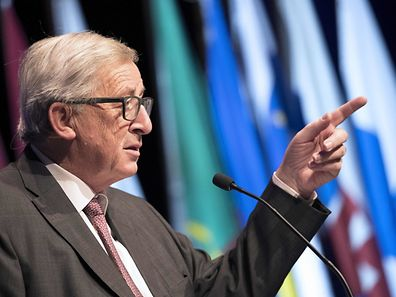 European Commission president Jean-Claude Juncker speaks during a summit marking the 25th anniversary of the Maastricht Treaty in Maastricht on December 9, 2016.