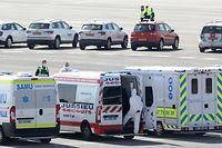 Lokales, Annulation évacuation patient, Francais, Findel, Aeroport, Coronavirus, Covid-19, Foto: Chris Karaba/Luxemburger Wort