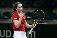 FLT Tennis Fed Cup zwischen Luxemburg und Israel im CNT Esch am 08.02.2019 Eleonora MOLINARO (LUX)