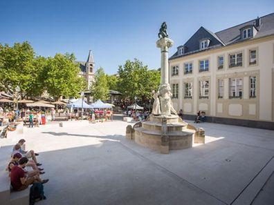 Das Dicks-Lentz-Monument von 1903 wurde errichtet, als die Luxemburger Sprache noch von geringer nationaler Bedeutung war.