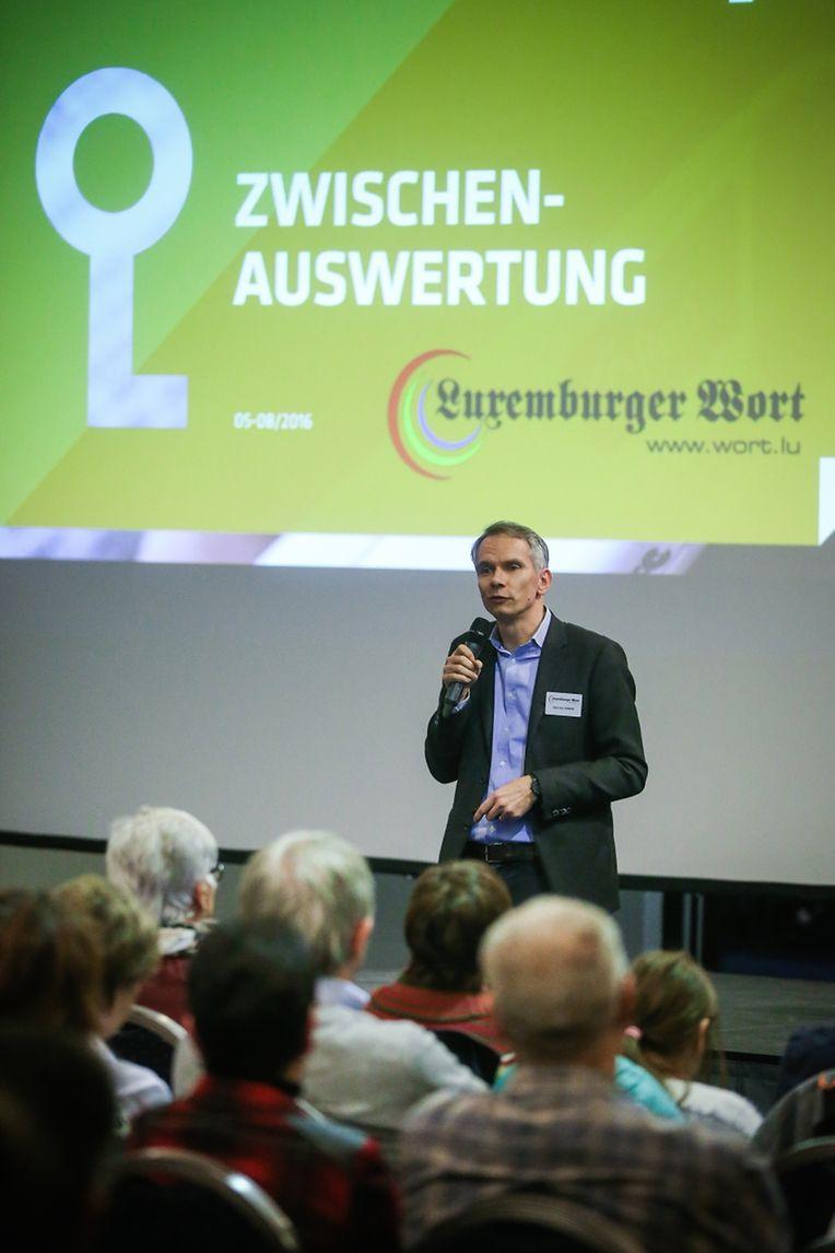 Chefredakteur Jean-Lou Siweck stellte die ersten Erkenntnisse der vergangenen Monate vor.